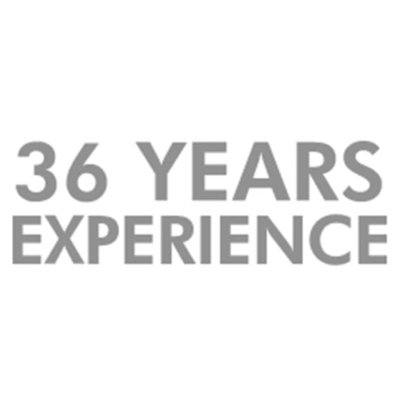 36 years experience