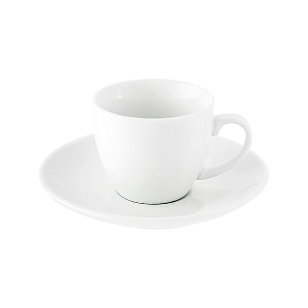Porcelain cup and saucer 80ml