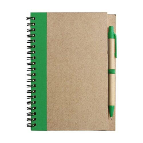 Wire bound notebook with ballpen