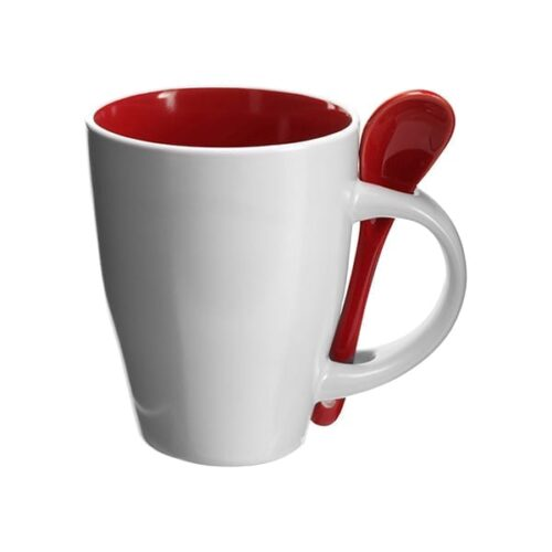 Coffee mug with spoon 300ml