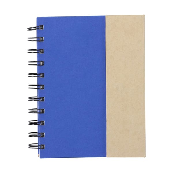 Notebook with ballpen and sticky notes
