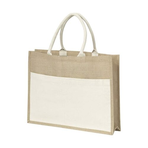 Jute bag with plastic backing