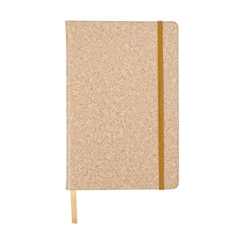 A5 PU covered notebook with cork print