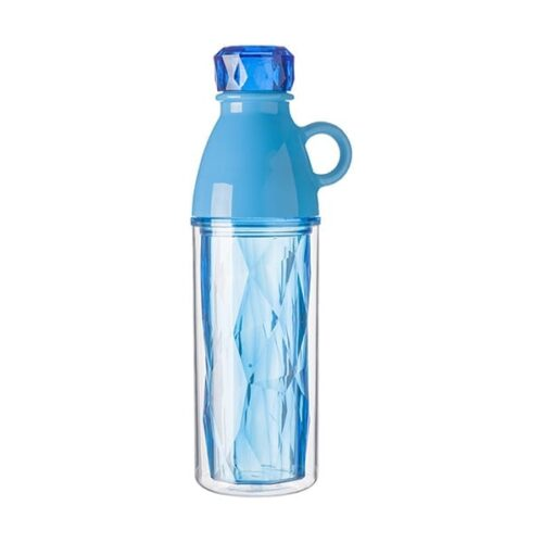Plastic geometric style double walled bottle
