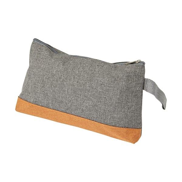 Polycanvas toilet bag with zipper