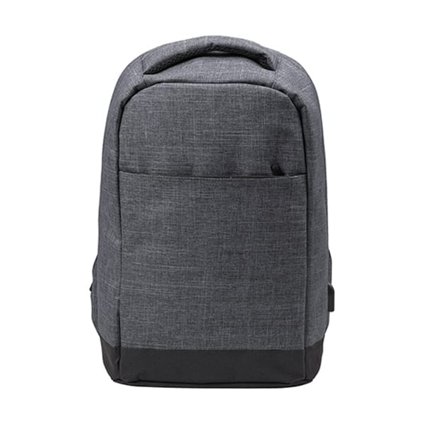 Two tone Polyester Anti-theft backpack