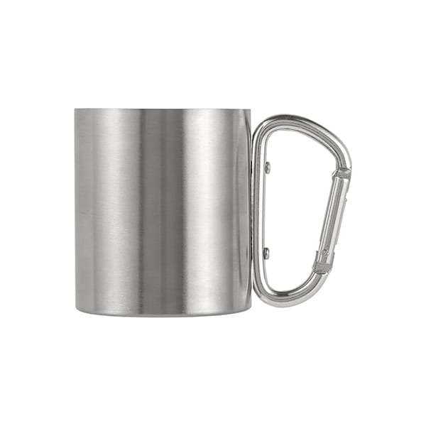 Stainless steel double walled mug 200ml