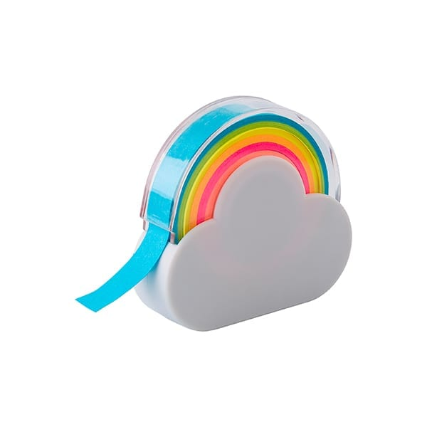 Cloud and rainbow memo tape dispenser