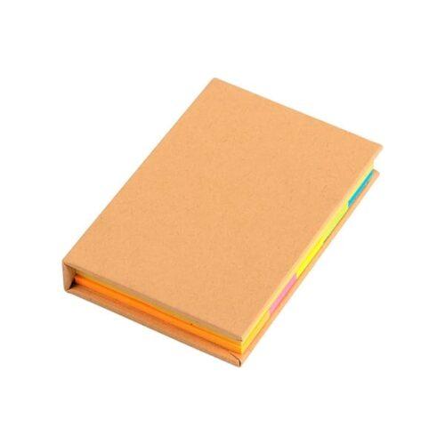 Notebook with sticky notes