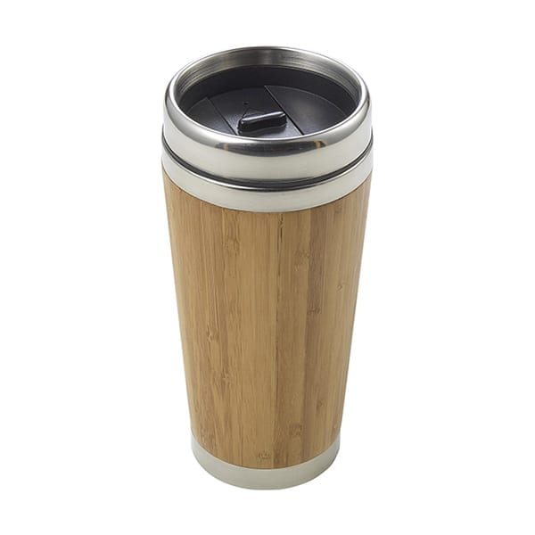 Bamboo double wall travel mug 400ml