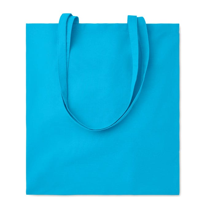 Coloured cotton Shopping Bag with long handles