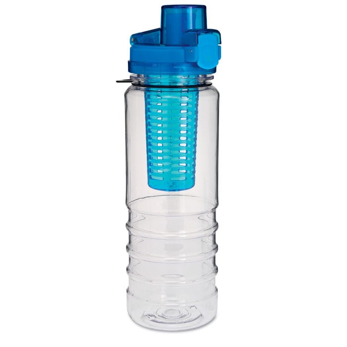 BLUE water bottle with fruit infuser 700ml