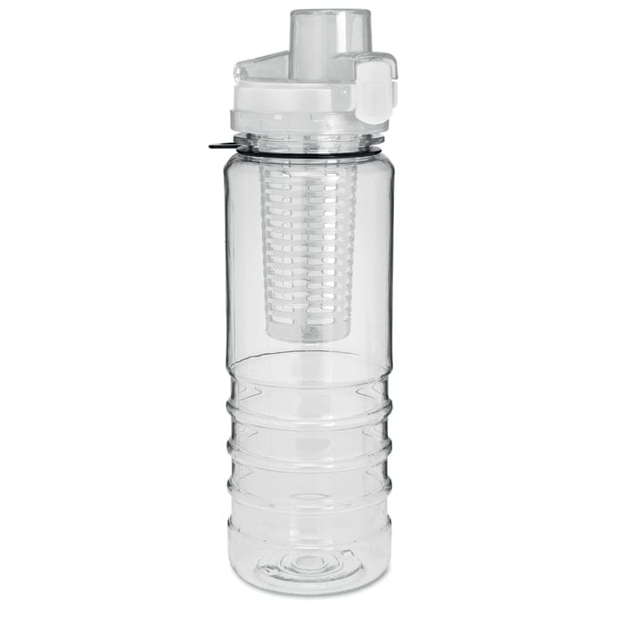 white water bottle with fruit infuser 700ml