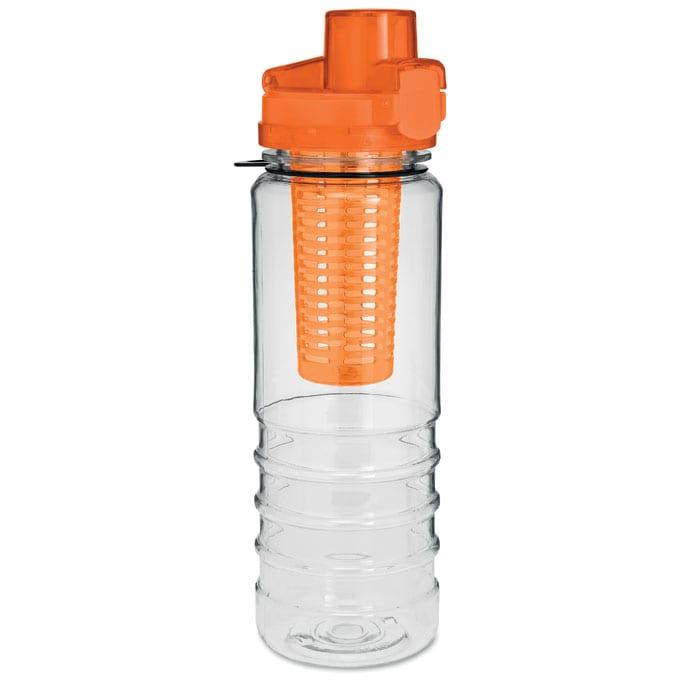 ORANGE water bottle with fruit infuser 700ml