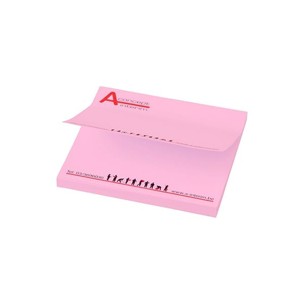 Printed squared sticky notes
