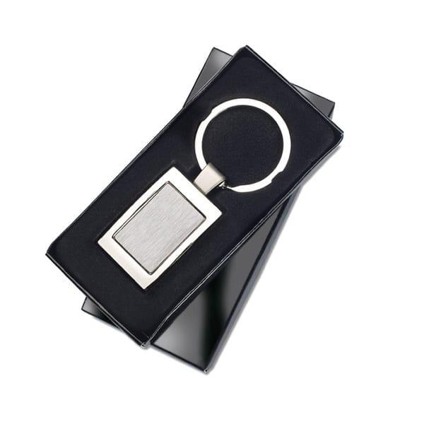 Metal rectangular keyring