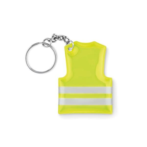 Reflective PVC vest keyring