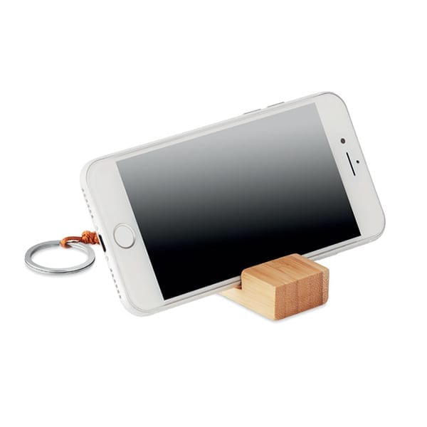 Smartphone stand in bamboo