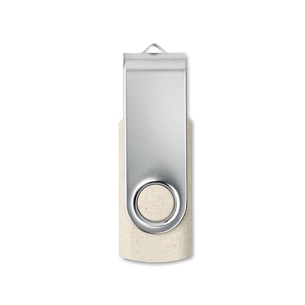 16GB USB Flash Drive with wheat straw case