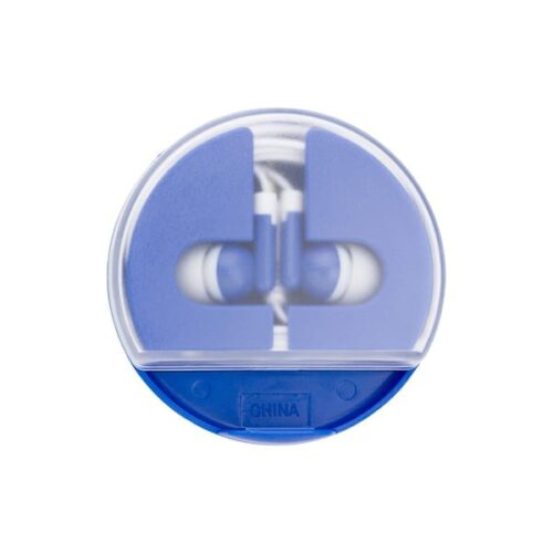 Coloured Earphones in a round case