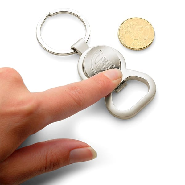 Metal Keyring with Trolley Coin