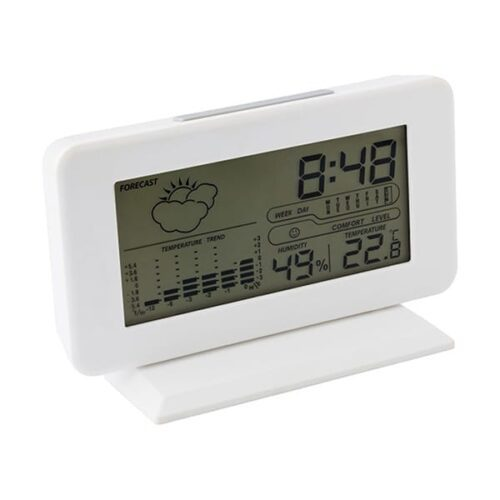 Plastic digital weather station with clock