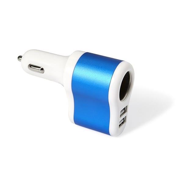 Plastic car charger with aluminium cigarette lighter port