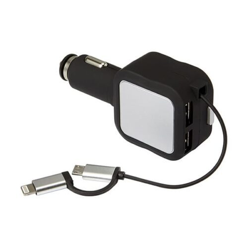 Plastic multifunctional car charger