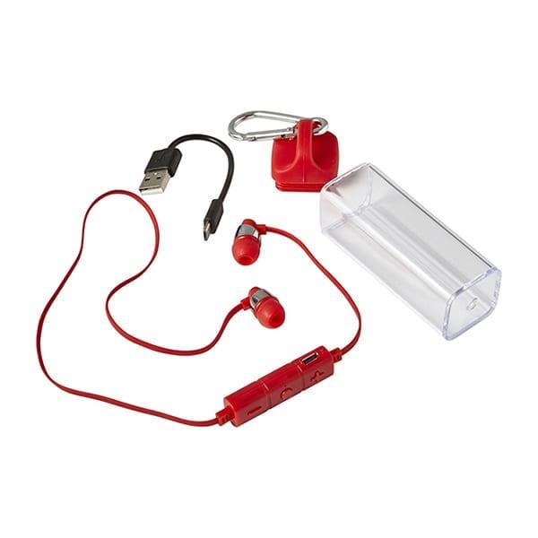 wireless in-ear earphones in a transparent case