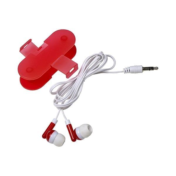 Pair of coloured earphones