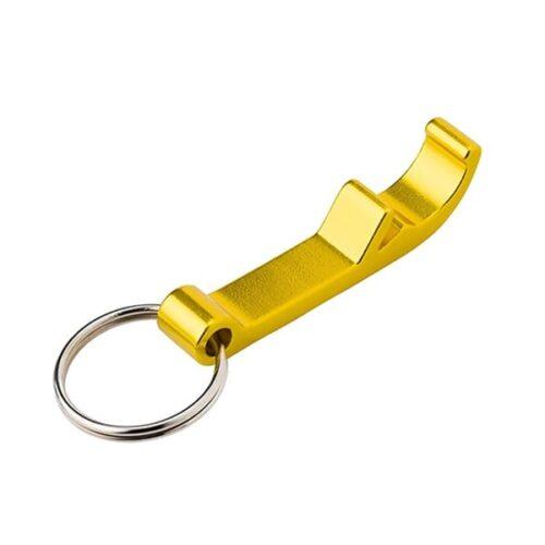Metal keyring and bottle opener