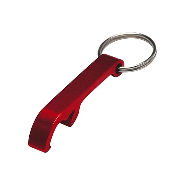 Metal keyring and bottle opener