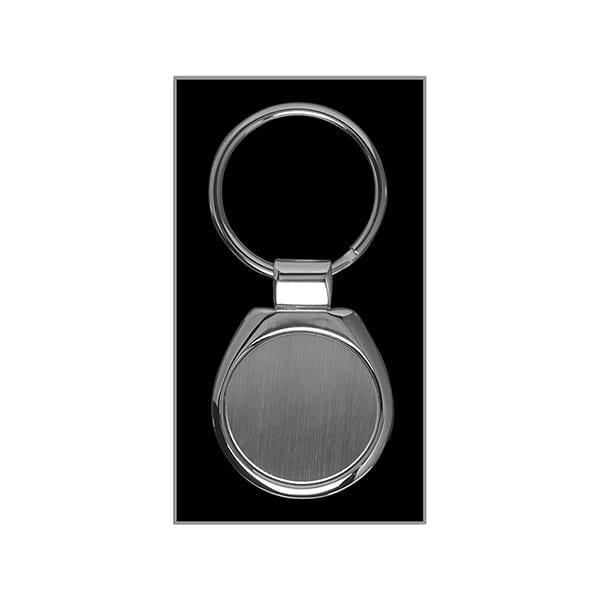 Round metal Keyring