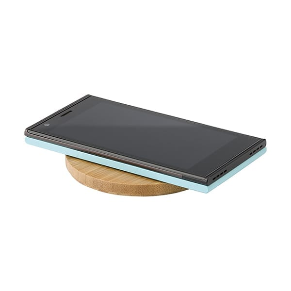 Bamboo wireless fast charger with LED indicator