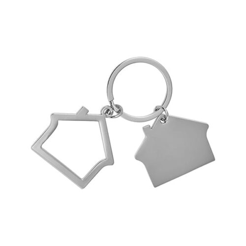 Zinc alloy house Keyring