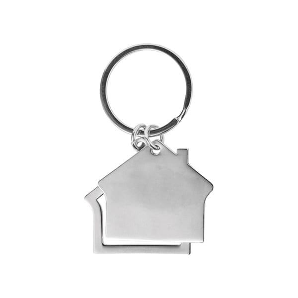 Zinc alloy house Keyring
