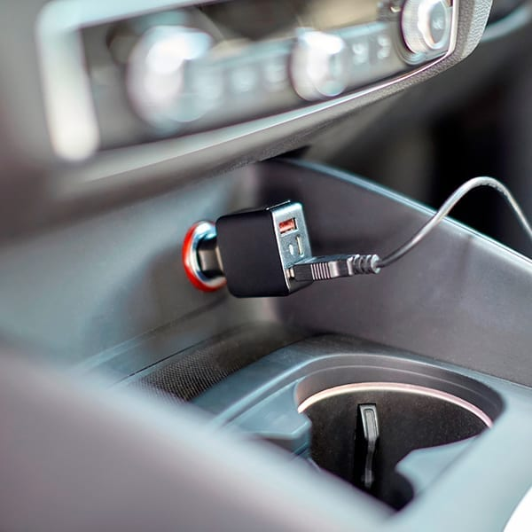ABS USB car charger with three ports