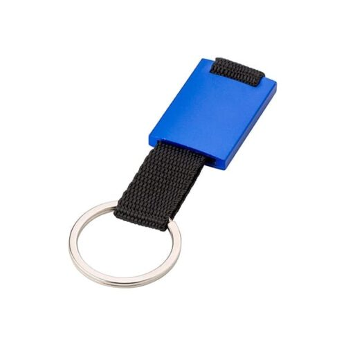 Aluminium keyring with band