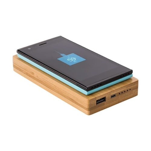 Bamboo Powerbank 6000 mAh with wireless charger