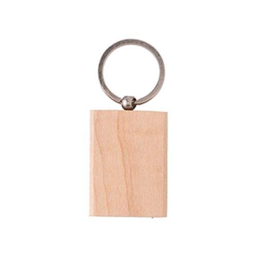 Rectangular wooden keyring