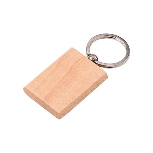Rectangular wooden keyring