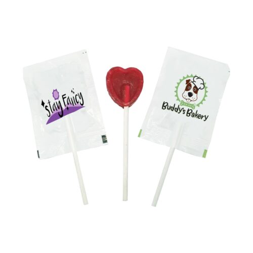 Mini heart shaped lollipop