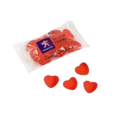 Fruit flavoured heart jellies
