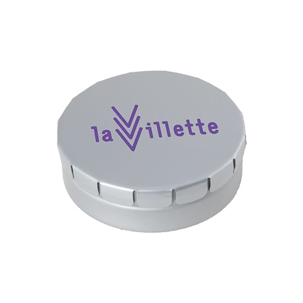 Click tin with mints