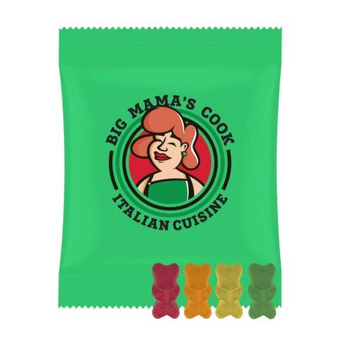 Organic gummy bears without gelatine, 15g.