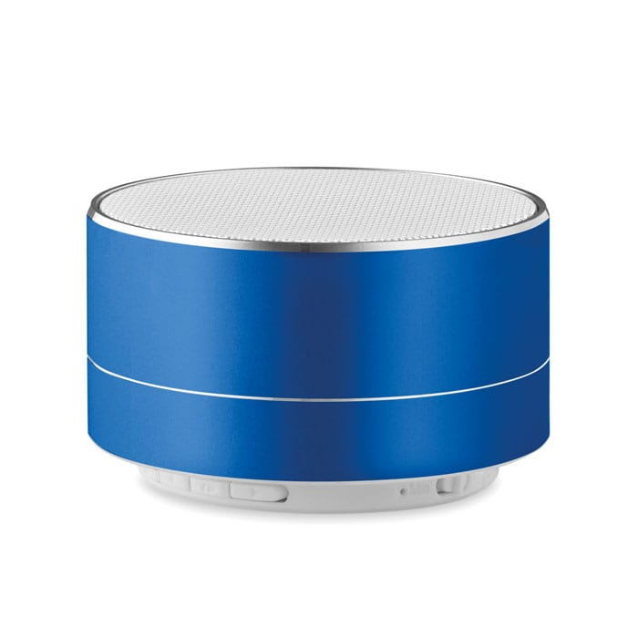 Aluminium wireless speaker with light