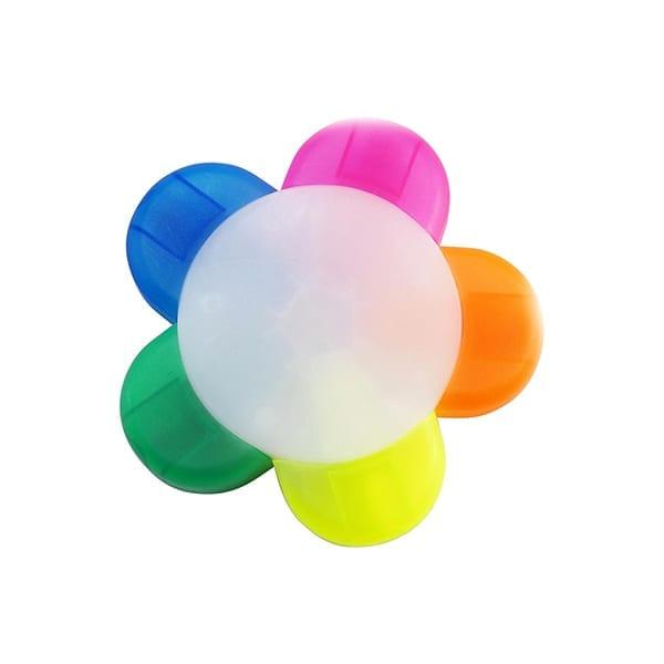 Flower shaped five colour text marker