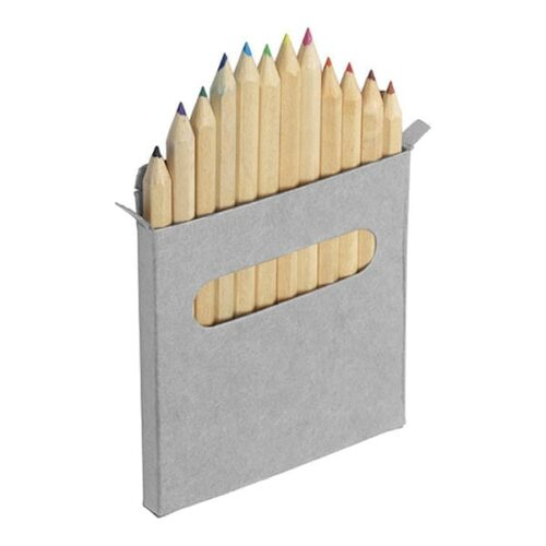 Twelve small colour pencils set