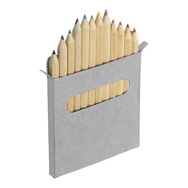 Twelve small colour pencils set
