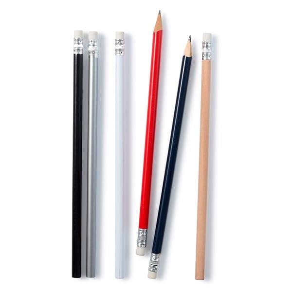Wooden unsharpened pencil with eraser.